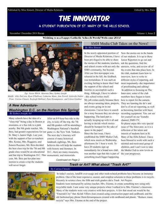 The Innovator Indeed A Gorgeous Schoolnewspaper From