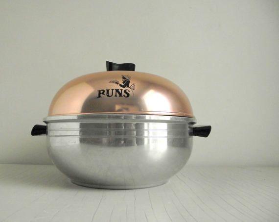 West Bend Serving Oven Vintage Aluminum Bun Warmer By