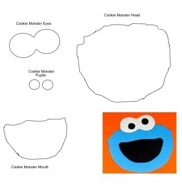 Cookie monster face template Sesame Street Birthday Party - Monster Template