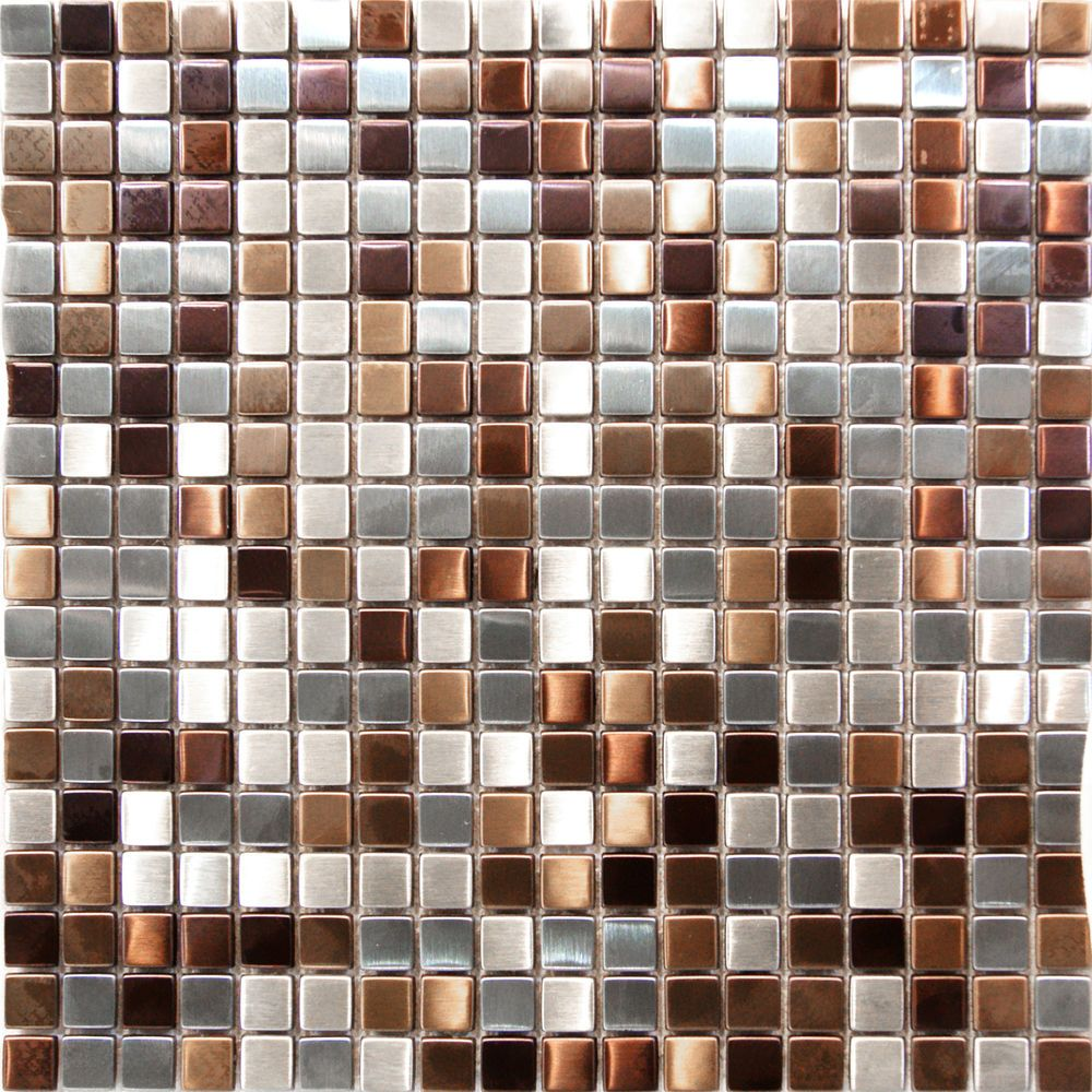- 1SF Stainless Steel Metal Gold Silver Copper Mosaic Tile Kitchen