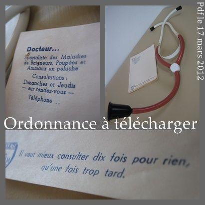 Trousse du docteur imprimez ses ordonnances jouet medecine pinterest coin jeux - Trousse docteur la peluche ...