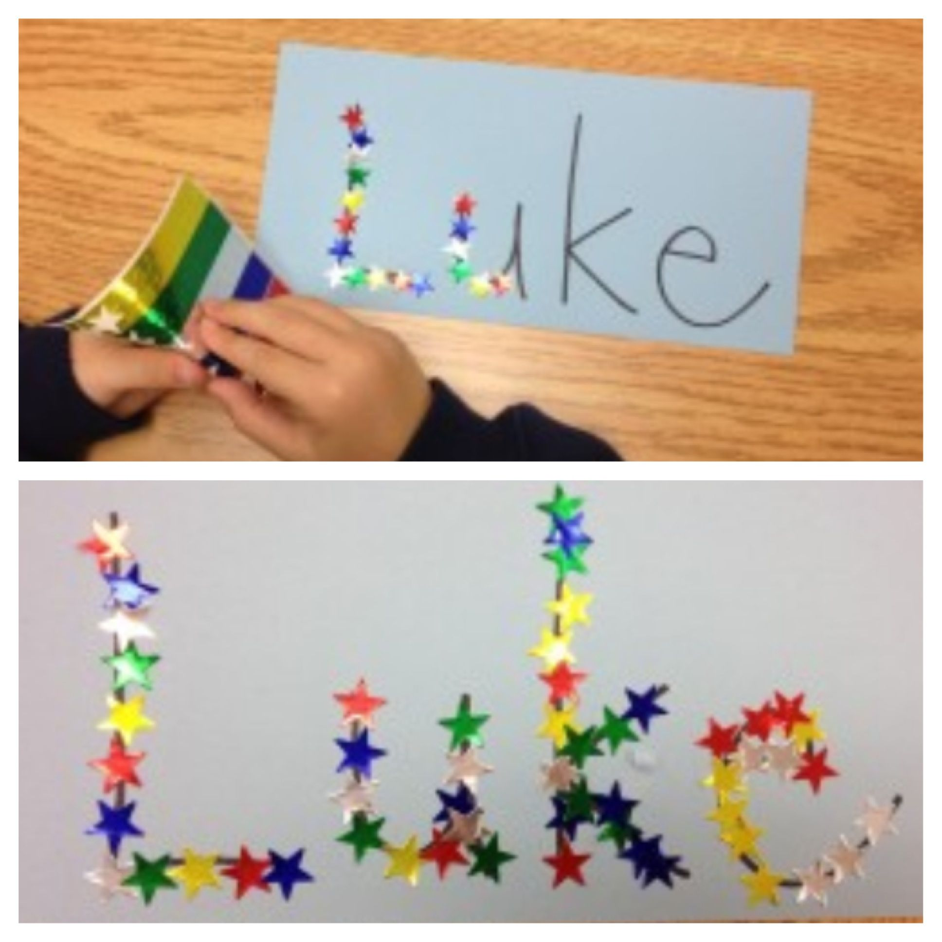 Star names to help children learn how to spell their name!