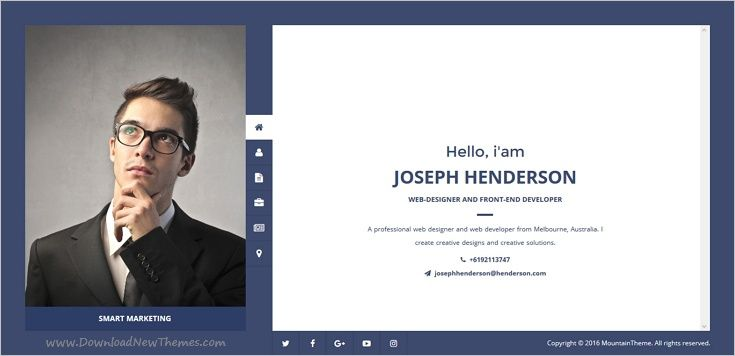 Henderson  Vcard Wordpress Theme  Wordpress