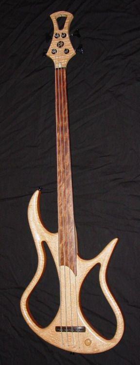Stambaugh fretless custom Bass  Lardys Chordophone of the day 2014  --- https://www.pinterest.com/lardyfatboy/