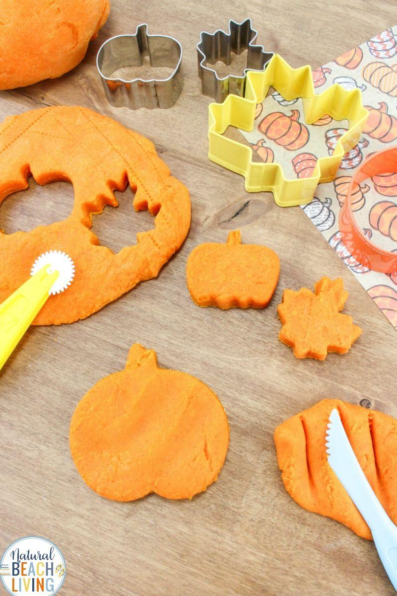 Pumpkin dough as thanksgiving activities for toddler