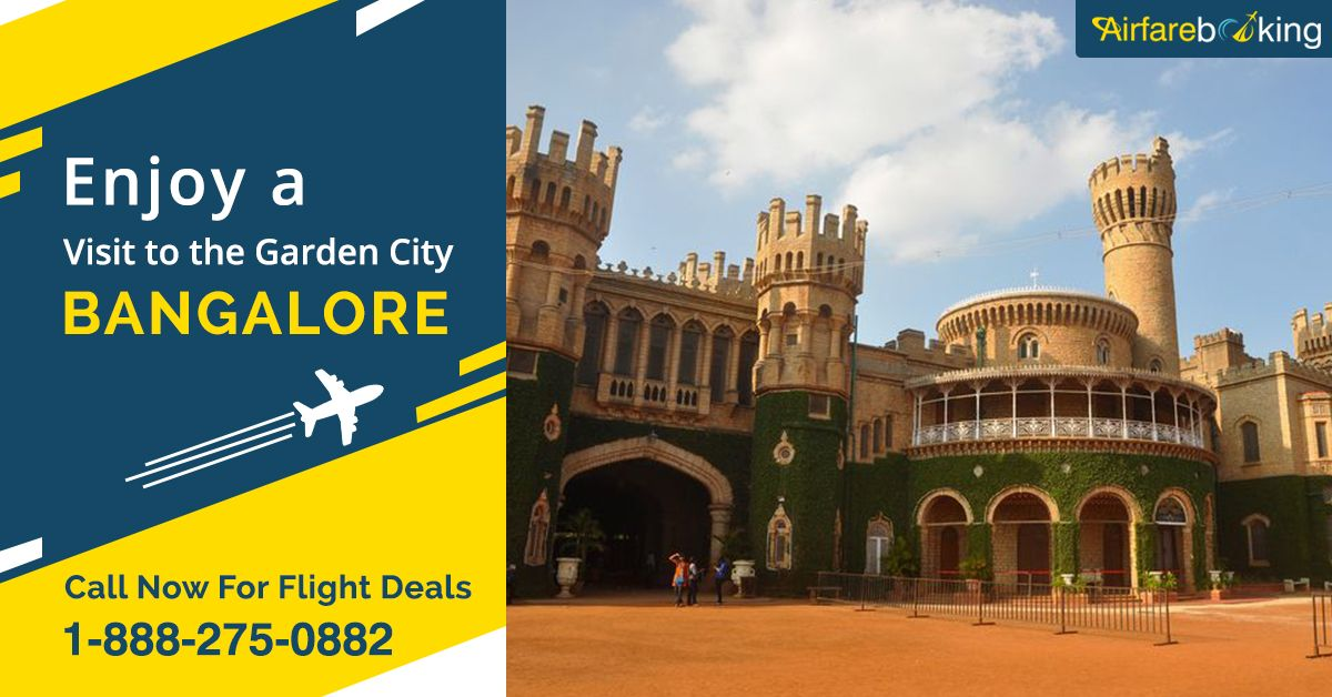 #Bangalore is known as the 'The Garden City' of India. There are lots of exciting tourist attraction in Bangalore. Get great offers on flights from the #USA to Bangalore with #Airfarebooking! Contact us today!   For more information CALL:- 1-888-275-0882 (Toll-Free).  #TravelOffers #flightstobangalore #discountedflighttickets #USAtoBangalore #USAtoINDIAFlights #CheapFlightTickets #Touristsattractions #VisitBangalore