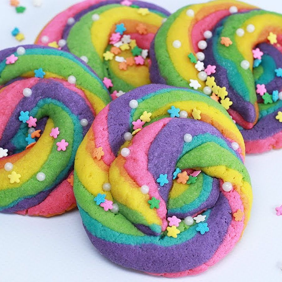 Unicorn Rainbow Poop Cookies