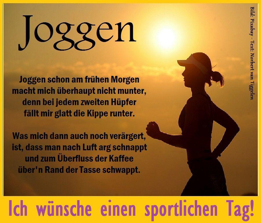 Lustiges gedicht joggen
