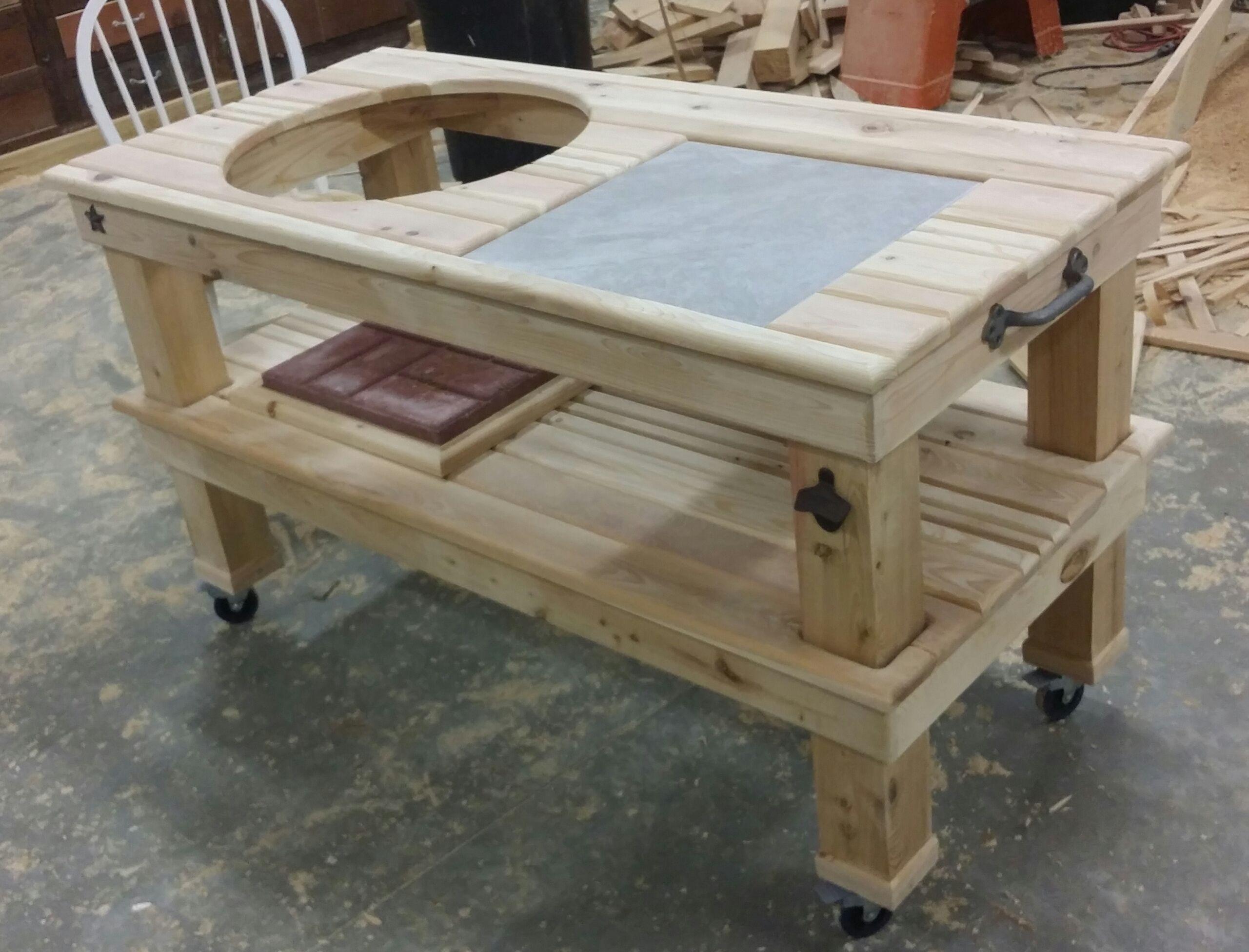 big green egg table standard table backyard pinterest grillwagen hausprojekte und. Black Bedroom Furniture Sets. Home Design Ideas