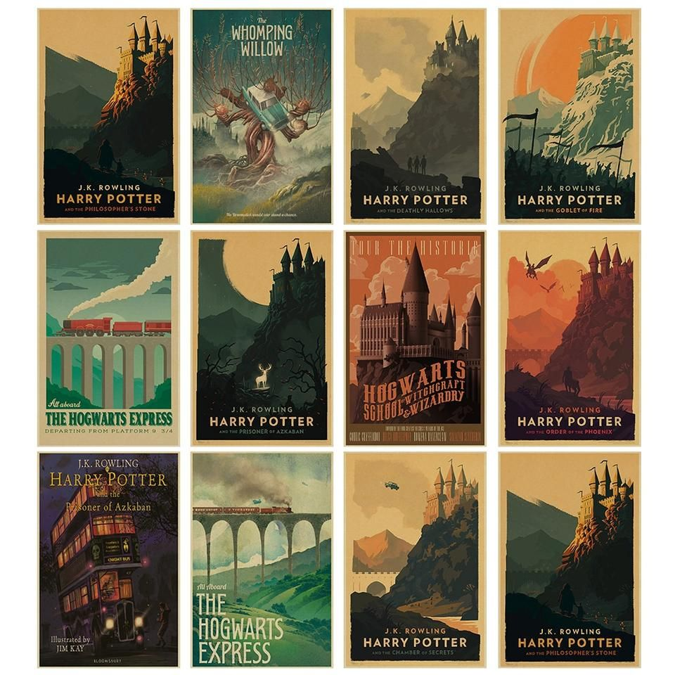 Harry Potter Vintage Train Express Diagon Alley Poster Harry Potter Poster Harry Potter Travel Poster Harry Potter Art