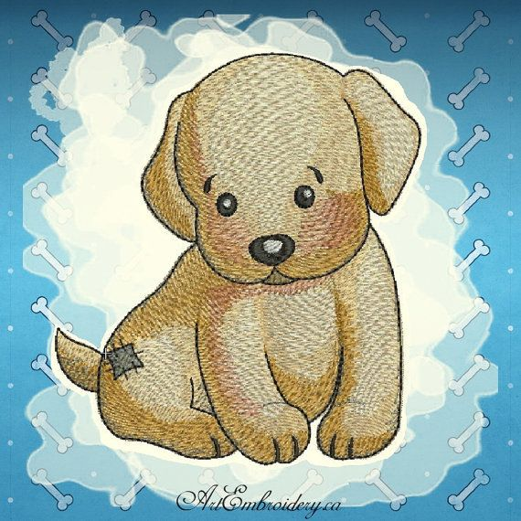"""Labrador - Machine Embroidery Designs Set for a Babies and Children of a series """"Old Toy"""""""