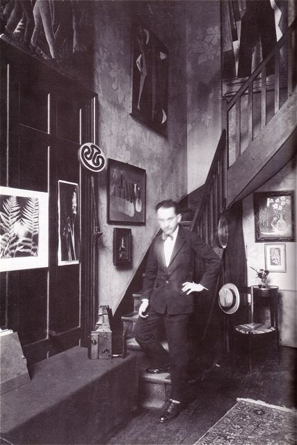 Man Ray in his Paris studio, c. 1935