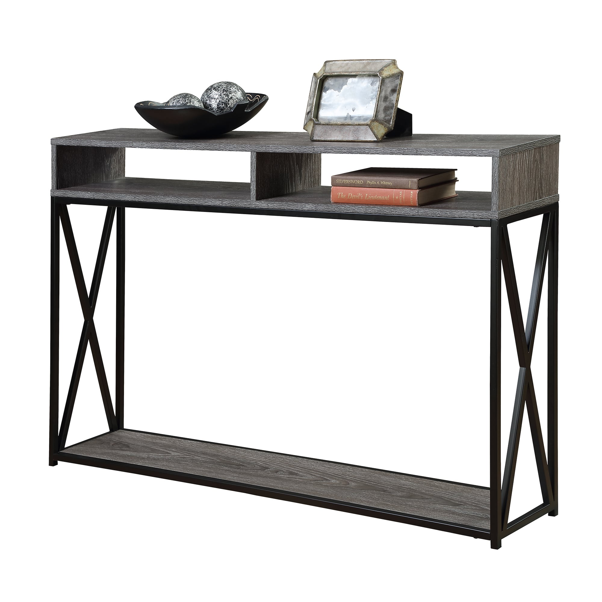 Porch and den convenience concepts tucson deluxe tier console