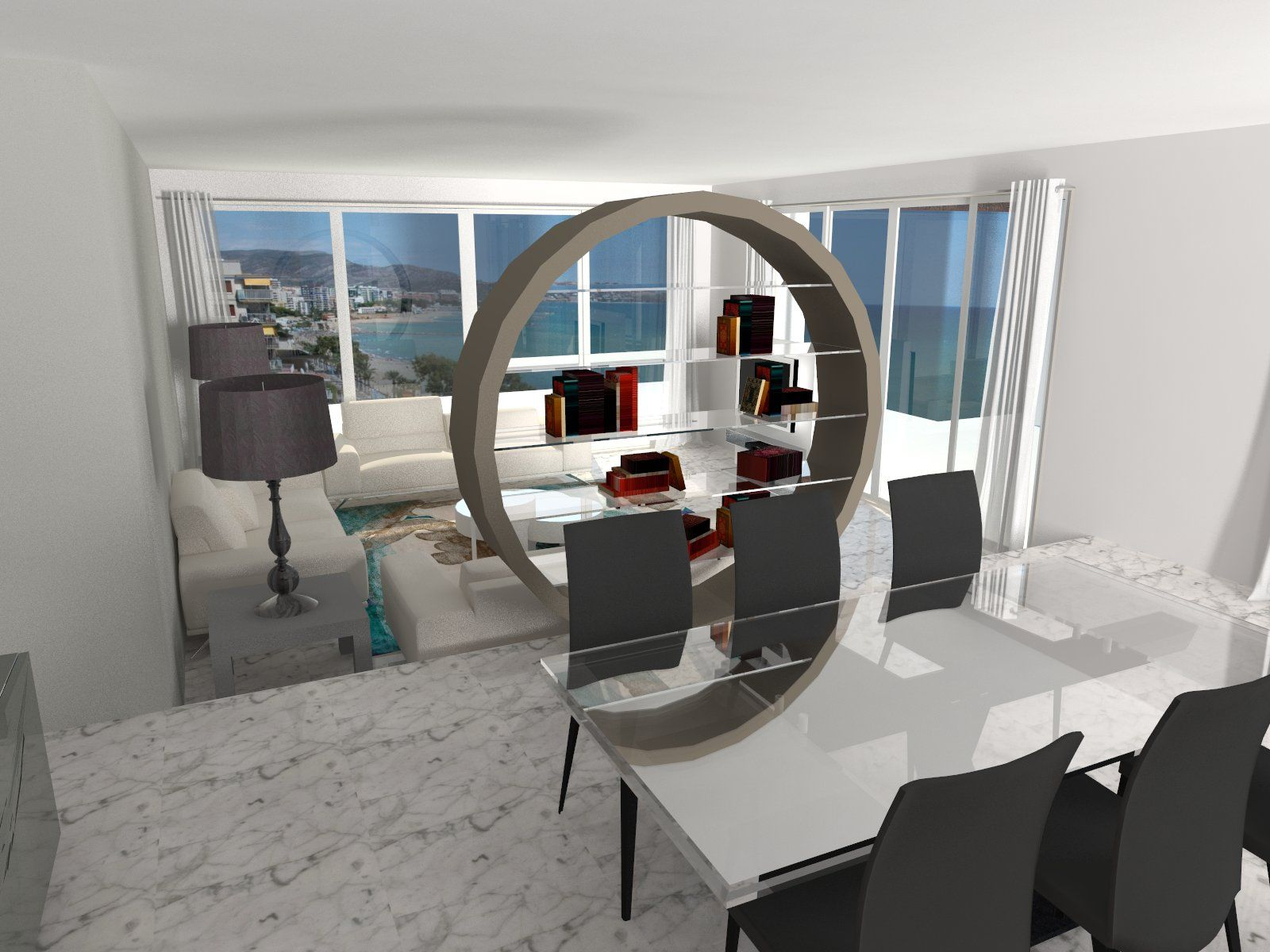 biblioteca omega mesa axel sillas longitude d coration pinterest decoration. Black Bedroom Furniture Sets. Home Design Ideas