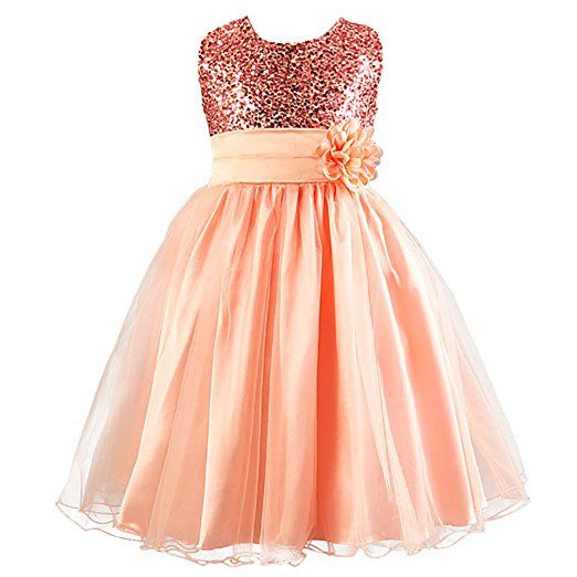 Pailletten kleid orange