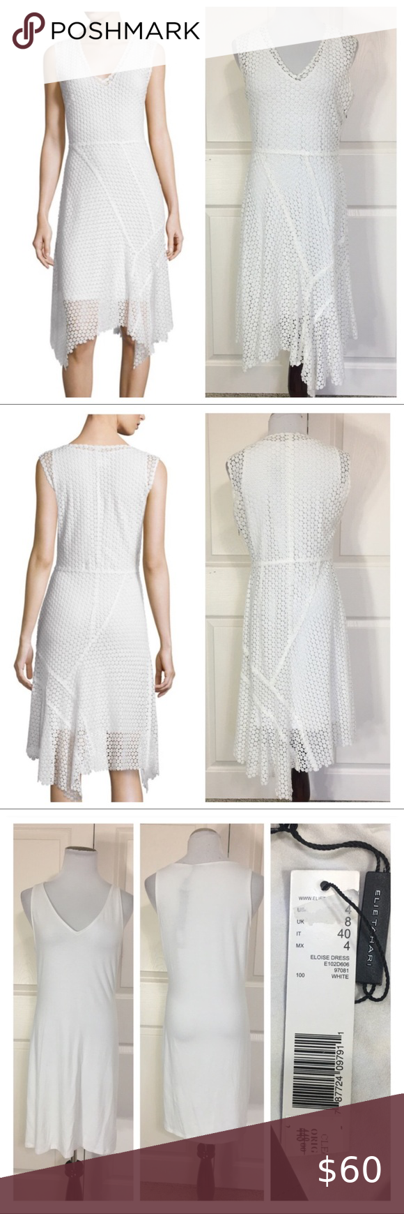 Nwt Elie Tahari Eloise White Lace Dress New With Tags Elie Tahari Eloise White Lace Dress Slip Into Sweet Summer Styl Lace White Dress Lace Dress Lacy Dress [ 1740 x 580 Pixel ]