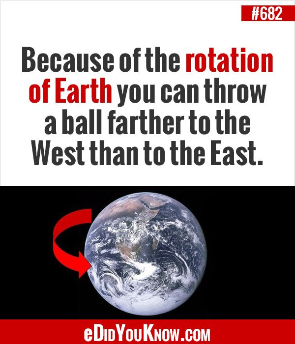 Science Facts About Earth: Because Of The Rotation Of Earth You Can Throw A Ball