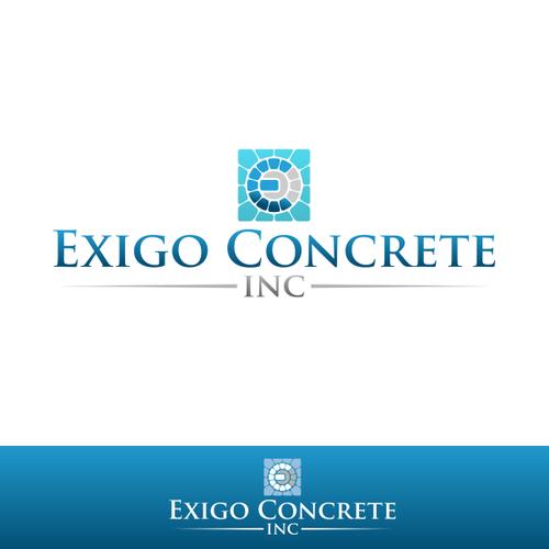 Exigo Concrete Inc Create A Capturing Vintage Illustration Of Sidewalk Commercial Concrete Sidewalks Concret Geometric Logo Internet Logo Photography Logos