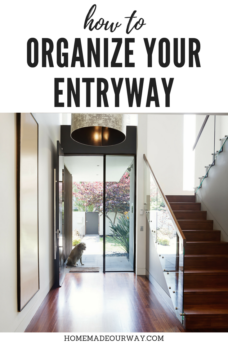 Hallway hooks and storage  How to Organize your Entryway  foyer  coat closet  DIY  tips