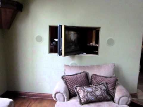 360 Degree Movable Tv Installation Part2 Youtube Wall Mounted Tv Livingroom Layout Tv Wall