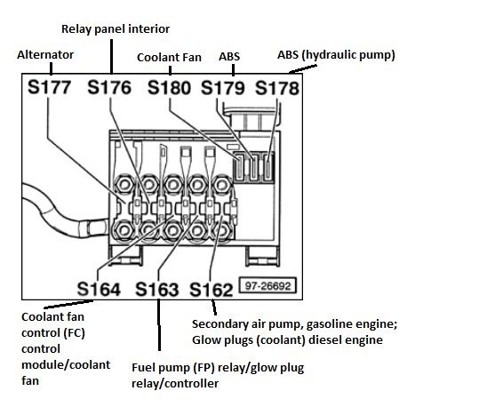Image result for 2002 vw beetle battery fuse box diagram