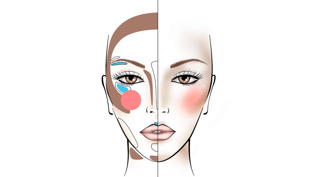 How to contour an inverted triangle shape face? - by Mufe