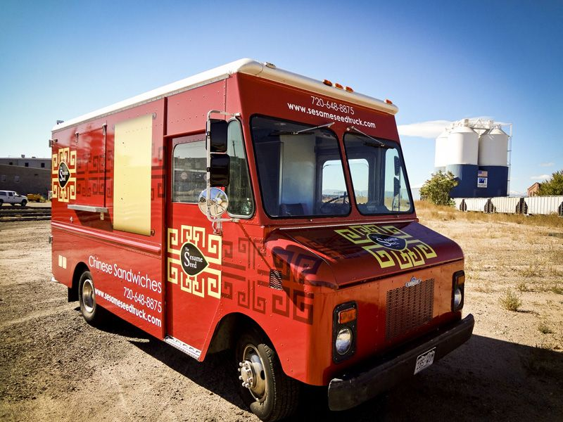 The Sesame Seed Mobile Food Truck Chinese Sandwiches Colorado Food Truck Food Truck Events Mobile Food Trucks