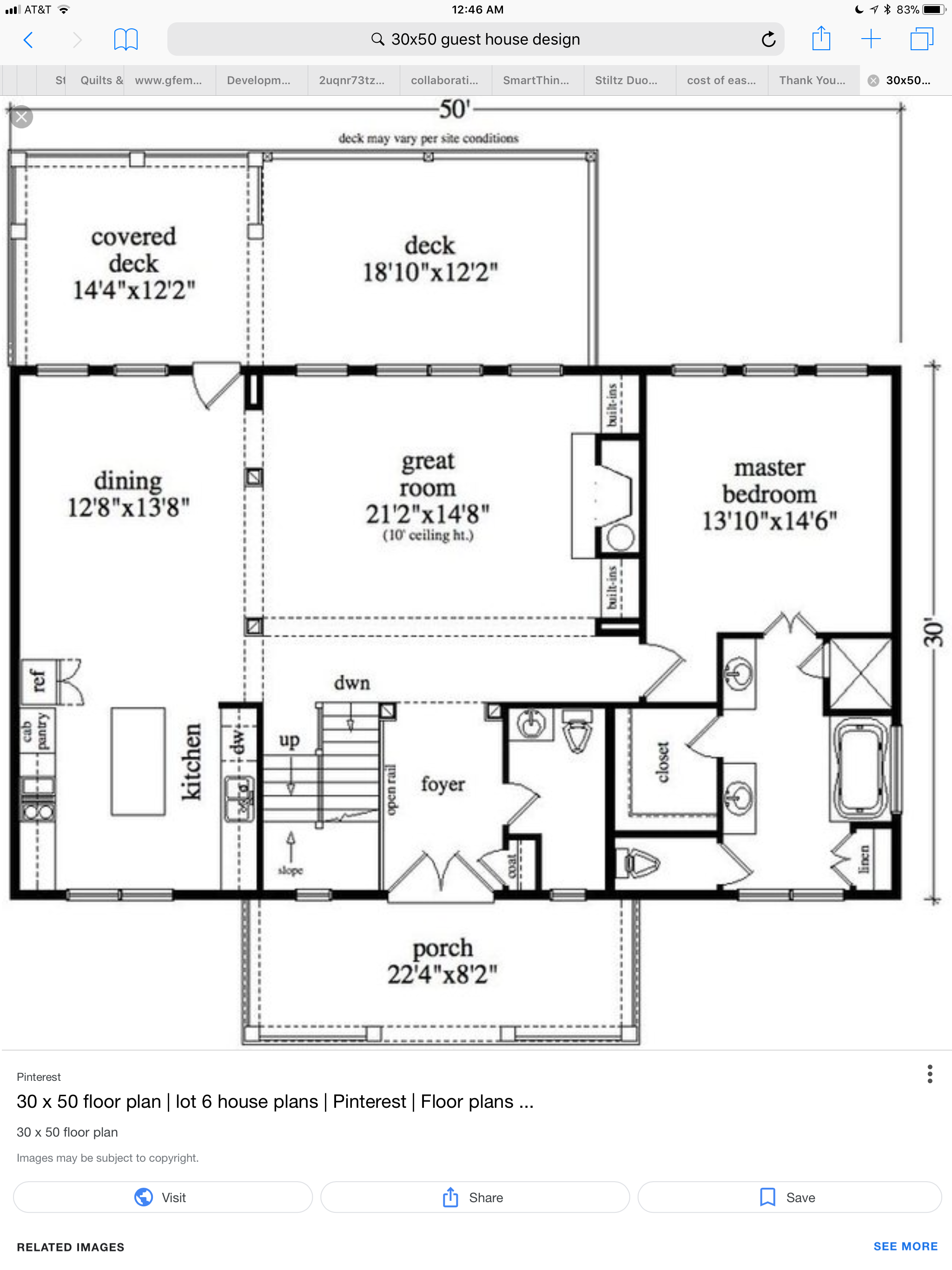 Pin By Kim Westfall On She Shed Floor Plans House Design Covered Decks