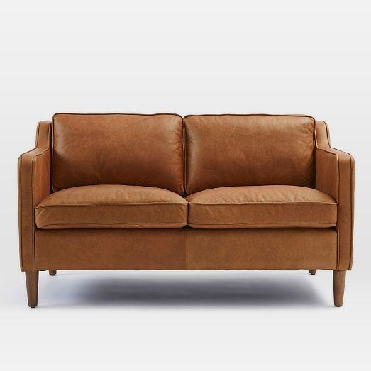 Terrific Hamilton Leather Loveseat 56 Home Seating Leather Dailytribune Chair Design For Home Dailytribuneorg