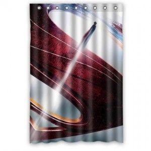 Superman Shower Curtain Bathroom Decor Bathroom Decor Pinterest Decor Curtains And Bathroom