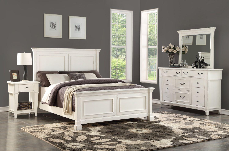 Stoney Creek Bedroom Suite With 1 Drawer Nightstand