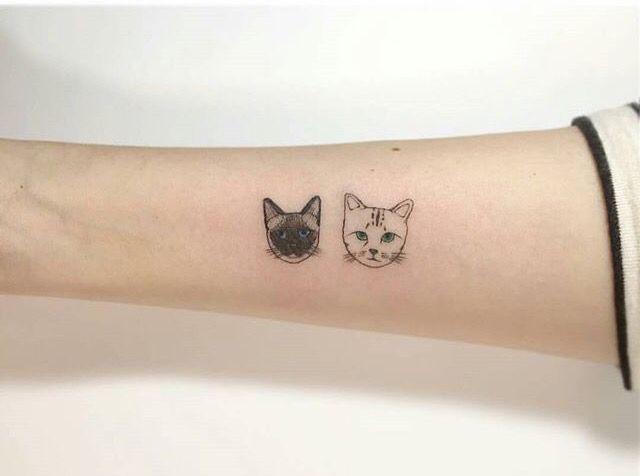 Black White Cats Tattoo Tasteful Tattoos Cat Face Tattoos Tattoos