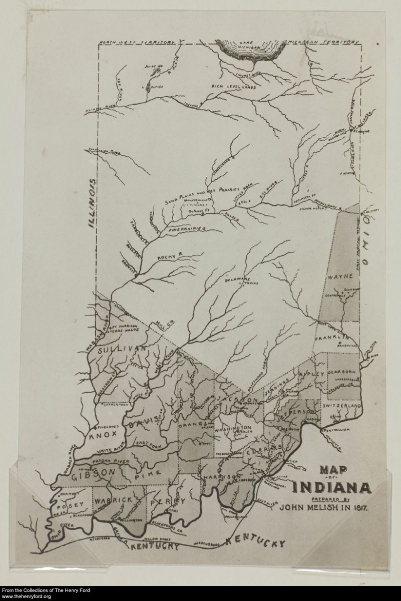 Knox County Indiana Map.Early 1817 Map Of Indiana Indiana Indiana Indiana Map Indiana