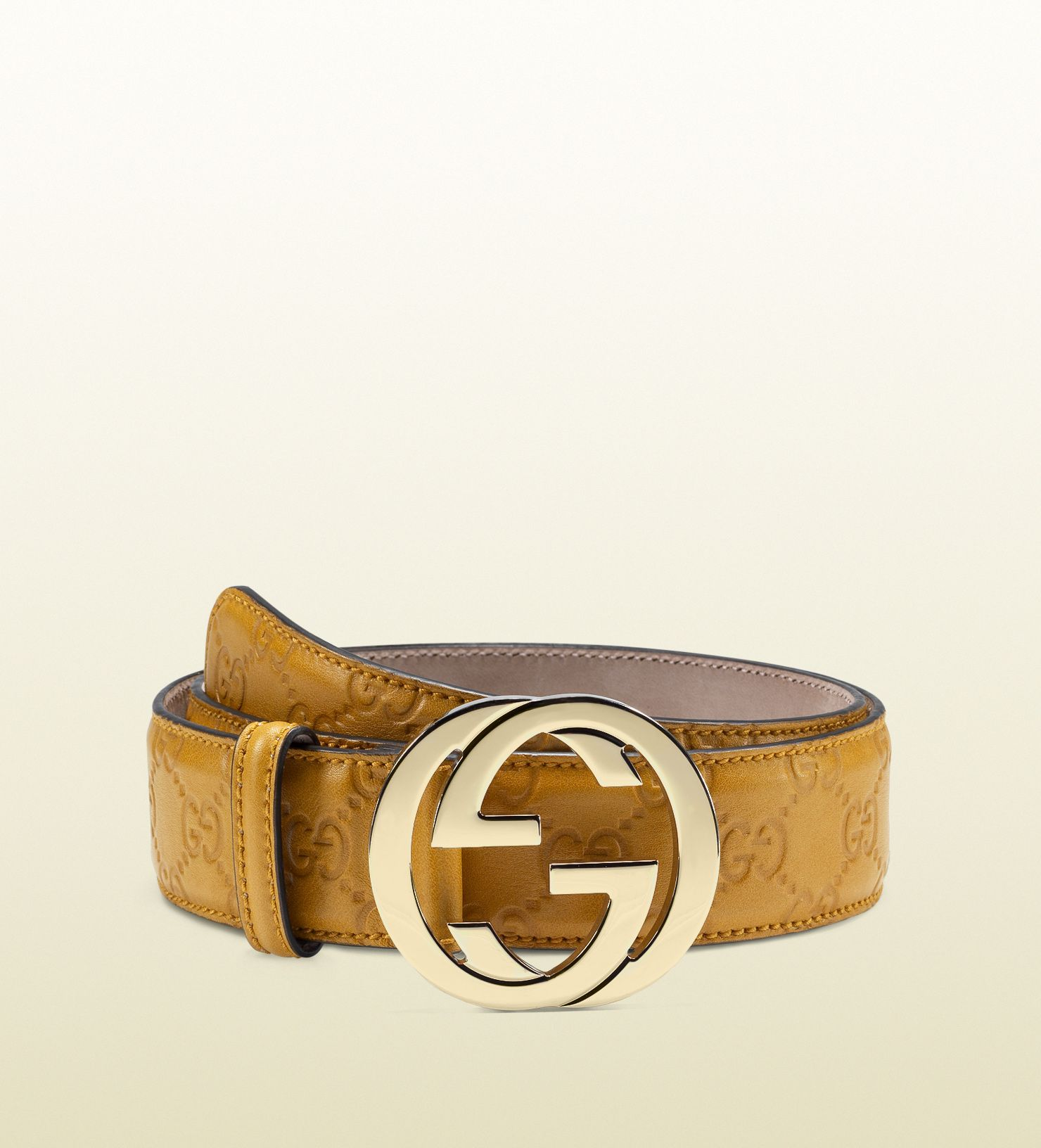 ce7d6f60b guccissima leather belt with interlocking G buckle | D ...