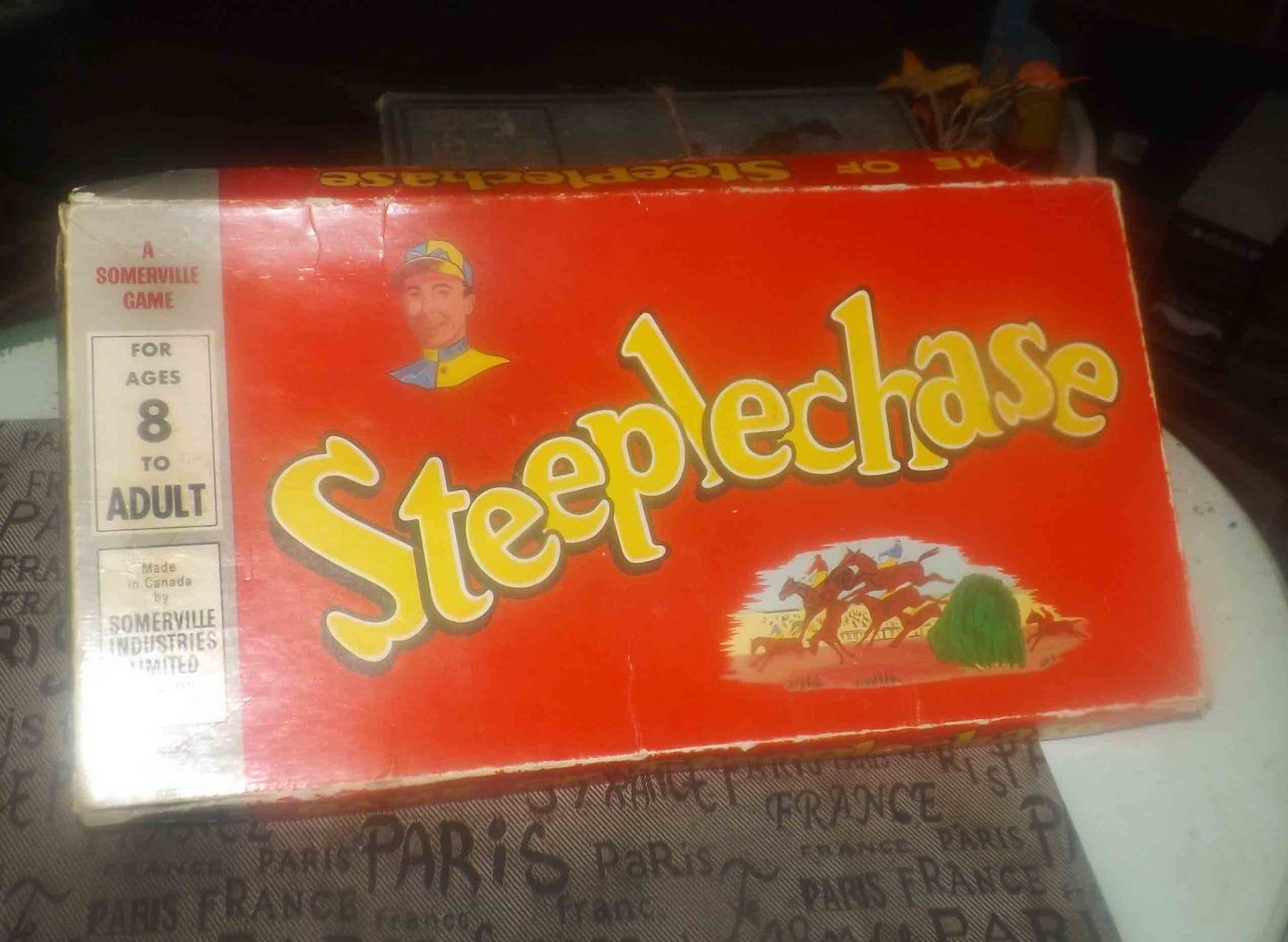 Midcentury (1950s) Steeplechase Horse Racing board game