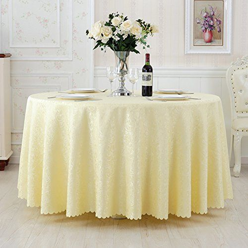 Hotel Tablecloth,European Style Restaurant Tablecloths,Fabric Simple Round  Table Cloth,Coffee Table Cloth Square Table Cloth E Diameter240cm(94inch)