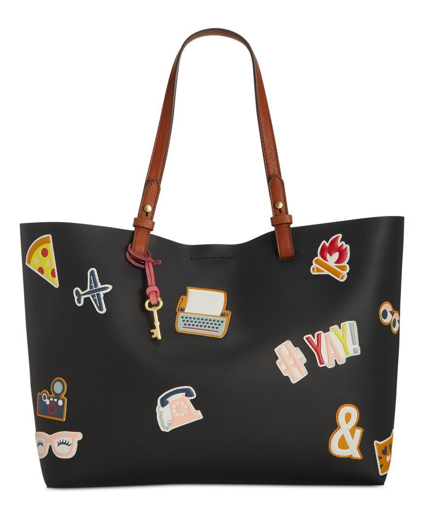 bb7970b3f84a Fossil Rachel Sticker Patch Tote