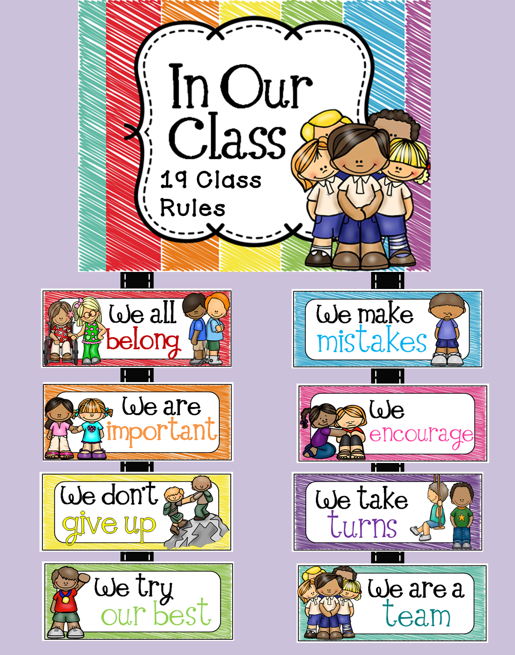 Use this super cute set of classroom room to remind your students of your expectations. These rules were created with a positive tone.