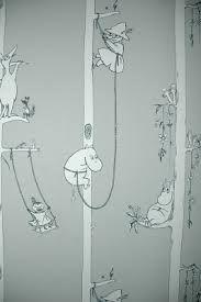 lastenhuoneen muumitapetti