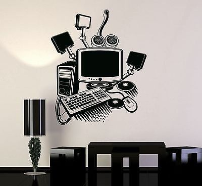 Vinyl Decal Gamer Play Room PC Computer Kids Art Mural Wall - Portal 2 wall decalsbest wall decals images on pinterest