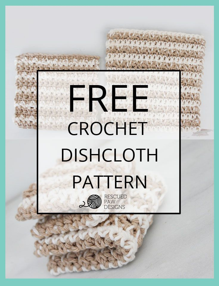 Learn how to make the best dishcloth ever by Rescued Paw | Colchas y ...