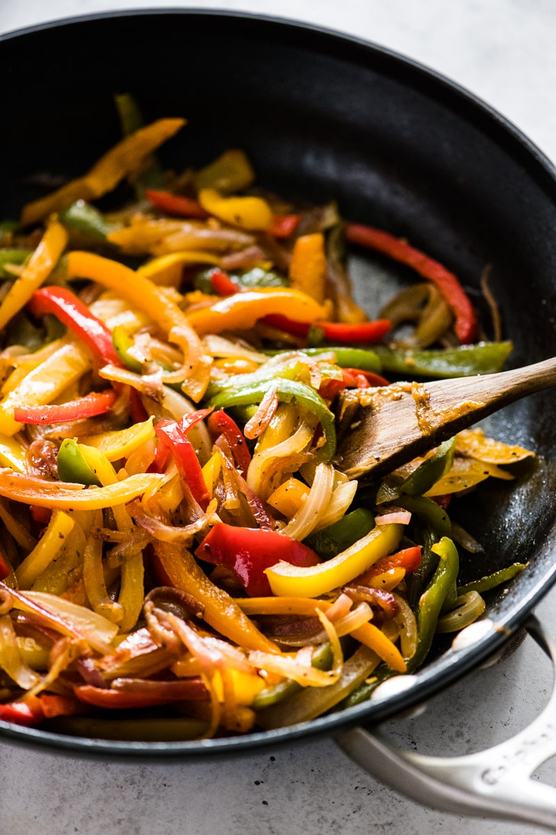 Sauteed Peppers and Onions (Easy and Flavorful) - Isabel Eats