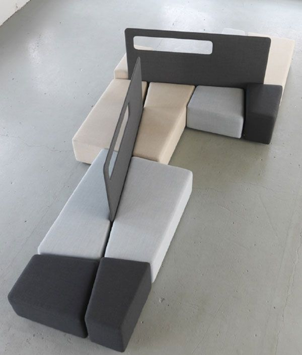 Stylish And Practical Contemporary Furniture For Every: Practical Diagonal Lobby Furniture For Indoor Public