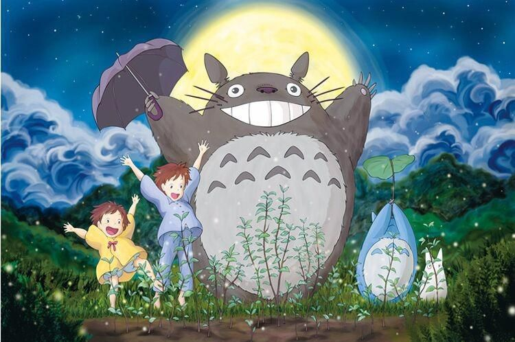 Happy Totoro Cartoon puzzles wooden puzzles 1000 pieces adult ...