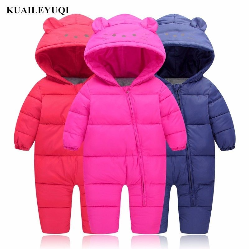 443ee2b126bf 3-24M Baby Girls autumn Snow clothes Wear Infant winter clothing ...