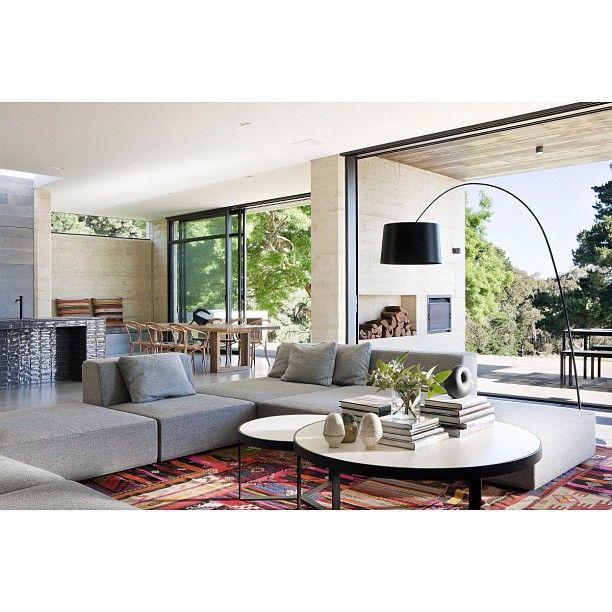51 Modern Living Room Design From Talented Architects: Contemporary House, Floor Lamps