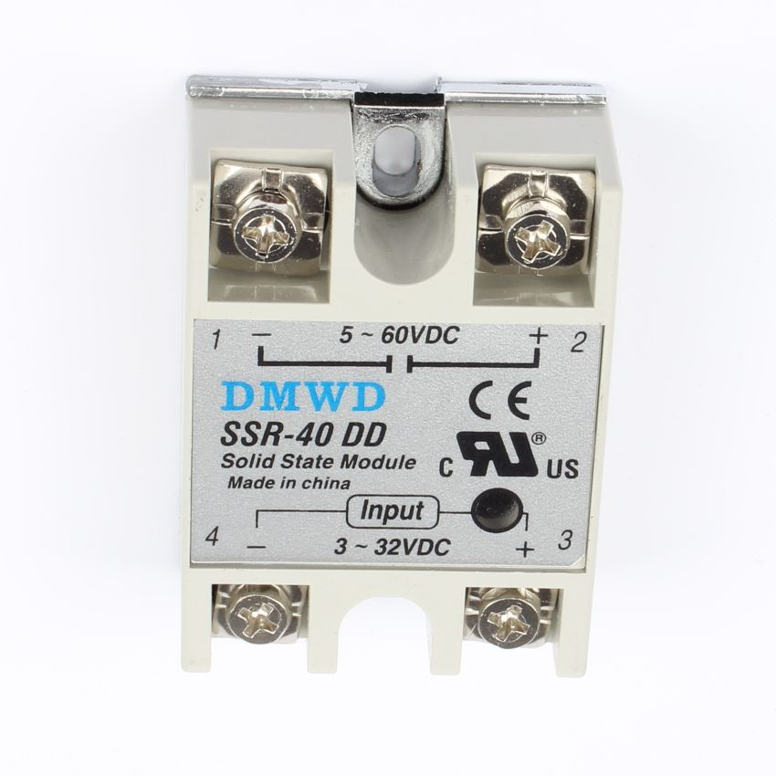 TOP BRAND DMWD SSR-40DD 40A solid state relay actually 3-32V
