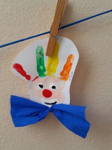 Handabdruck Clown Apokries Pinterest Carnival Crafts Clown
