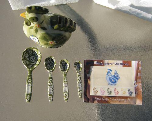 Temptations Bakeware by Tara Old World Green Measuring Spoon Set ...