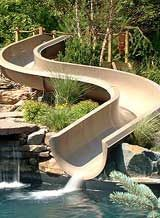 Residential Pools With Slides residential-swimming-pool-slide | streams, creeks, pools, and